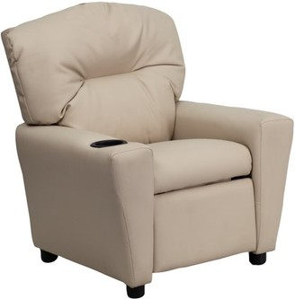 Flash Furniture Kids' Vinyl Recliner with Cup Holder, Multiple Colors