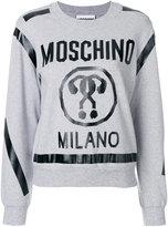 Moschino cropped question mark sweatshirt