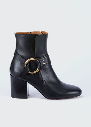 Chloé Demi Leather Harness Ankle Booties
