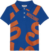 Moschino Blown up logo cotton polo shirt