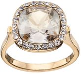 Brilliance+ Brilliance 14k Gold-Plated Gray Crystal Ring with Swarovski Crystals