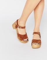 Asos TICKLE Suede Clog Sandals