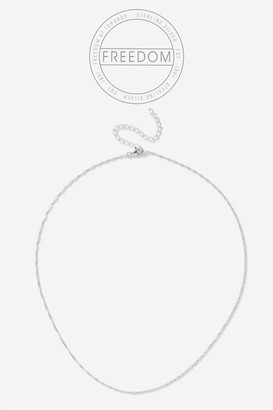 Topshop Sterling Silver Link Necklace
