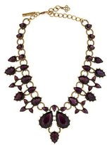 Oscar de la Renta Teardrop Crystal Collar Necklace