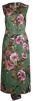 Comme des Garcons Metallic Floral Jacquard Midi Dress