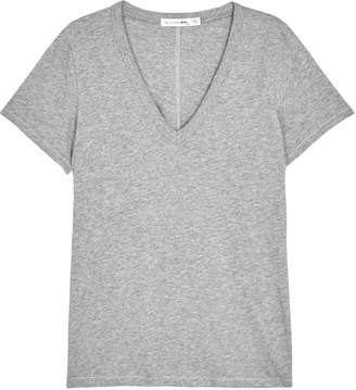 Rag & Bone The Vee Grey Cotton T-shirt