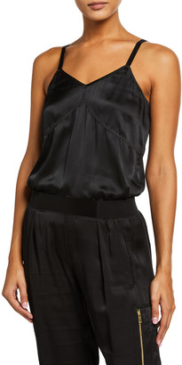 ATM Anthony Thomas Melillo Silk V-Neck Cami Bodysuit