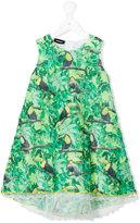 Diesel tropical print dress - kids - Cotton/Polyester - 6 yrs