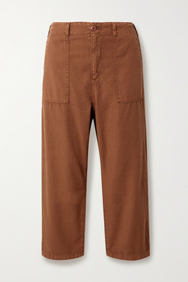 The Great The Ranger Cotton-canvas Cargo Pants - Brown