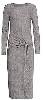 Current/Elliott Women's Vega Tie-Waist Heathered T-Shirt Dress