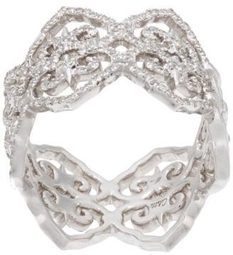 Colette 18kt White Gold Filigree Diamond Ring