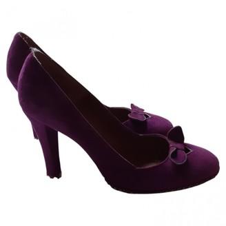 Marc Jacobs Purple Suede Heels