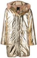 Pinko faux fur lined parka coat