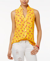 Amy Byer Juniors' Printed Sleeveless Shirt