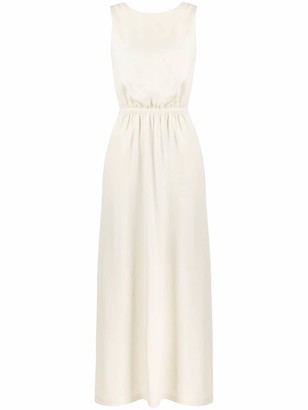 Aspesi Cross-Over Back Maxi Dress