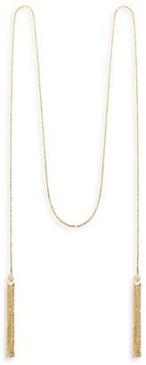 Celara Phase 14K Yellow Gold & Diamond Long Tassel Necklace