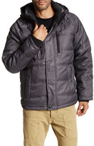 Hawke & Co Faux Fur Collar Hooded Puffer Jacket