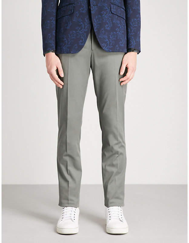 Etro Slim-fit tapered stretch-cotton trousers