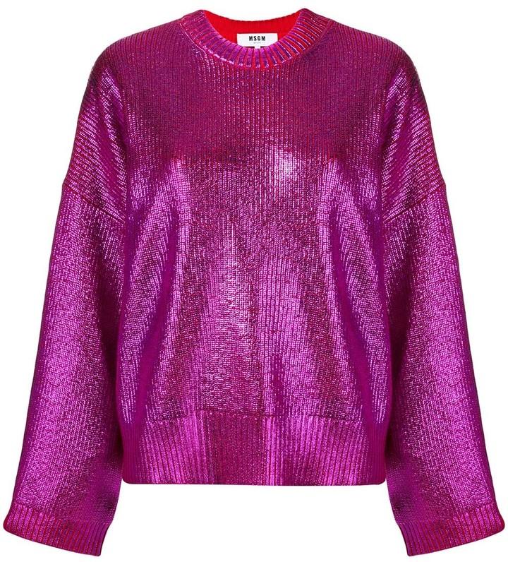 MSGM metallic knit jumper