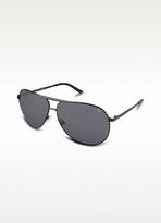 Double Bridge Metal Aviator Sunglasses
