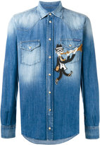 Dolce & Gabbana flautist patch denim shirt - men - Cotton - 39