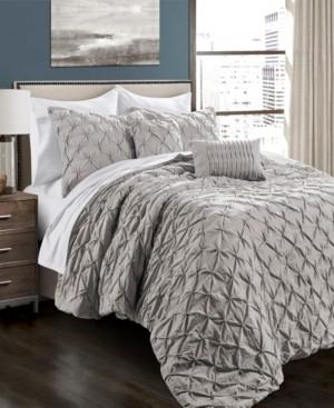 Lush Decor Ravello Pintuck 5-Piece Full/Queen Comforter Set Bedding