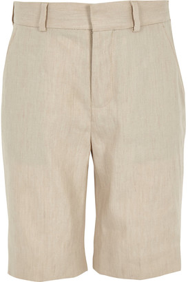 River Island Boys ecru linen suit shorts