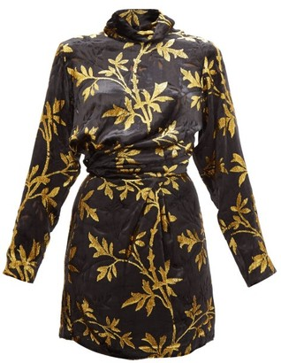 Dodo Bar Or Anita Velvet Fil-coupe Mini Dress - Black