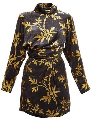 Dodo Bar Or Anita Velvet Fil-coupe Mini Dress - Womens - Black