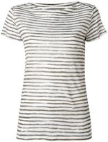 Majestic Filatures striped shortsleeved T-shirt - women - Linen/Flax - III