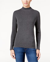 Karen Scott Petite Mock-Neck Sweater, Only at Macy's