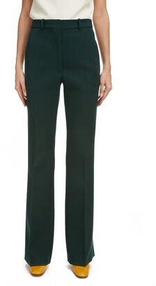 Victoria Beckham High Waist Flare Leg Trousers