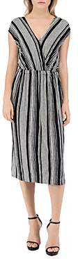 Bobeau B Collection By B Collection by Danielle Striped V-Neck Dress