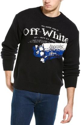 Off-White Wool-Blend Crewneck Sweater