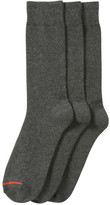Joe Fresh Men's 3 Pack Dress Socks, Charcoal (Size 10-13)