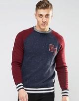 Bellfield Baseball Style Knitted Sweater