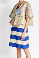 DELPOZO Embellished Jacket with Linen