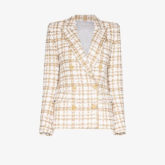Faith Connexion Double-Breasted Tweed Blazer