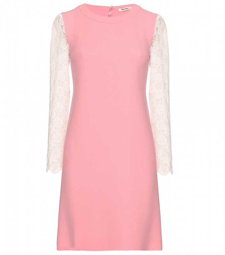 Miu Miu DRESS WITH MACRAMÉ SLEEVES