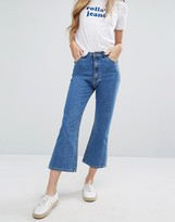 Rollas Rolla's Eastcoast High Rise Crop Flare Jeans