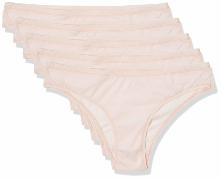 Thumbnail for your product : Iris & Lilly Women's Body Smooth Microfiber Brazilian Pack of 5