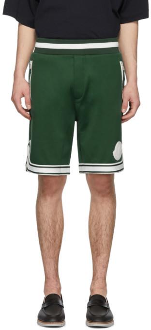 Moncler Green Sweat Shorts