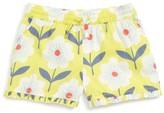 Toddler Girl's Mini Boden Ruffle Trim Shorts