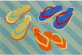 Liora Manné Front Porch Indoor/Outdoor Flip Flops Blue 2'6'' x 4' Area Rug