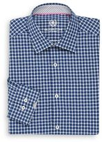Bugatchi Shaped-Fit Gingham Dress Shirt