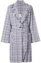Raquel Allegra plaid macintosh coat
