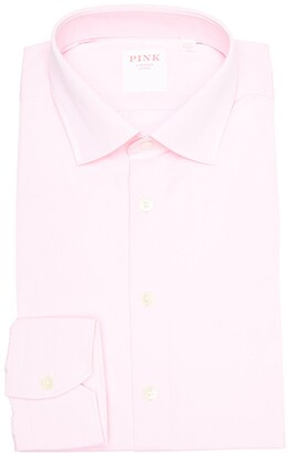 Thomas Pink Solid Classic Fit Dress Shirt