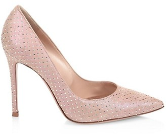 Gianvito Rossi Gianvito Embellished Suede Pumps