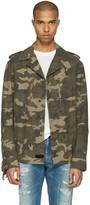 Faith Connexion Green Camouflage Fringe Jacket