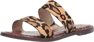Sam Edelman Womens Gala Hazelnut Bourbon Slides 9 W